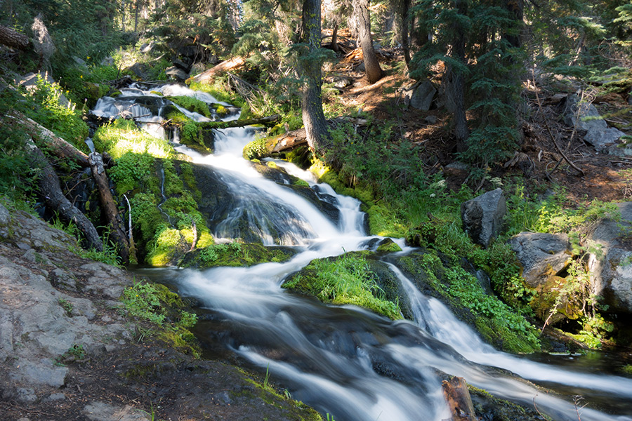 waterfall cascades lassen hat creek paradise meadow