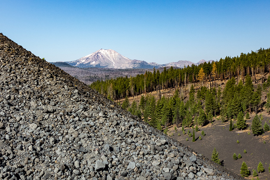 lassen peak as seen from cinder cone