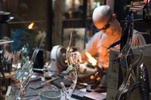 glassworker creating art