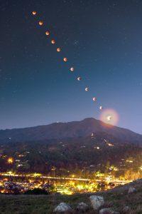 lunar eclipse above mount tamalpais