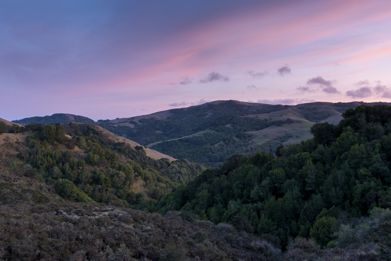 lucas valley at dusk