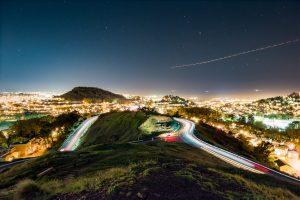 nighttime vista from san francisco's twin peaks