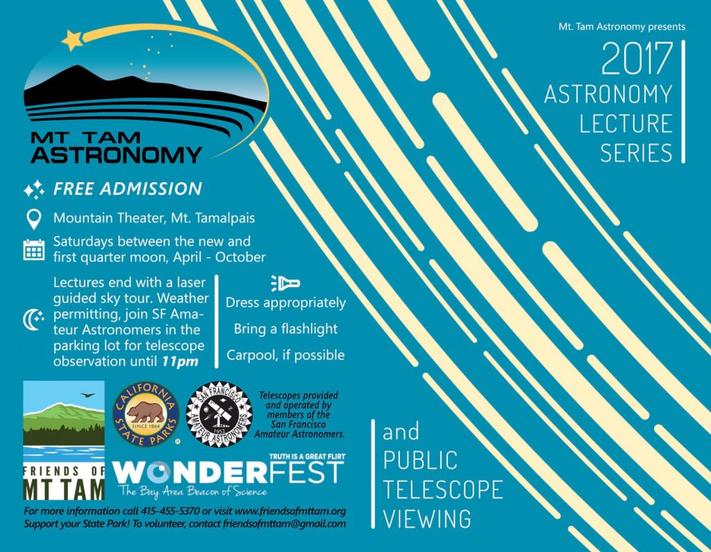 Mt. Tam Astronomy Programs brochure