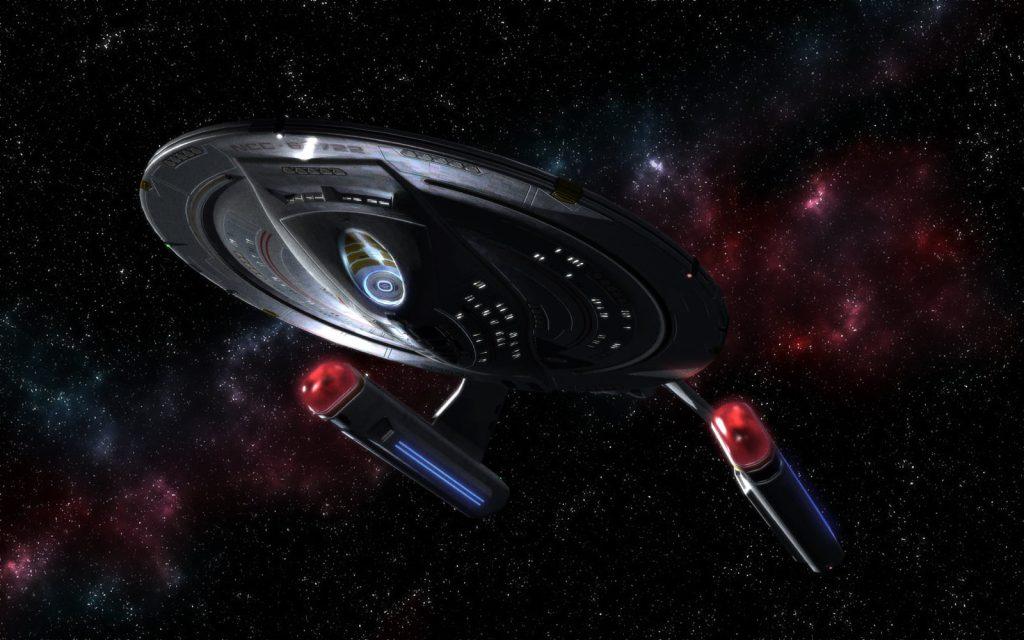 akira class starship exploring nebulae