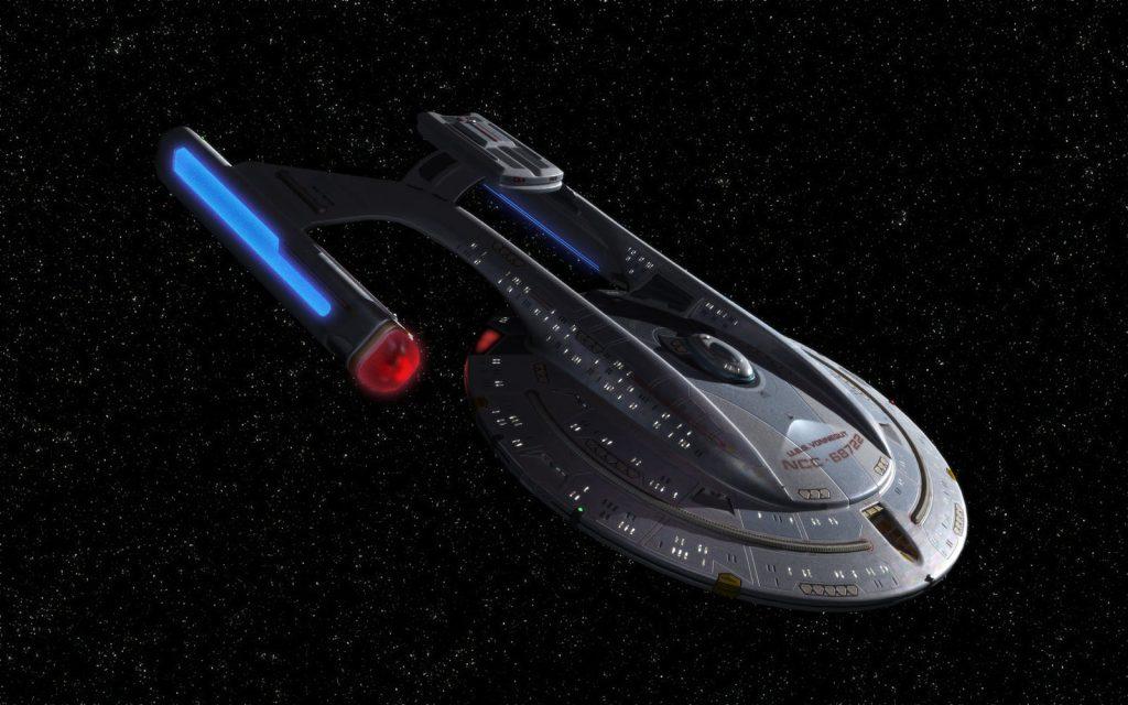 akira class starship in space