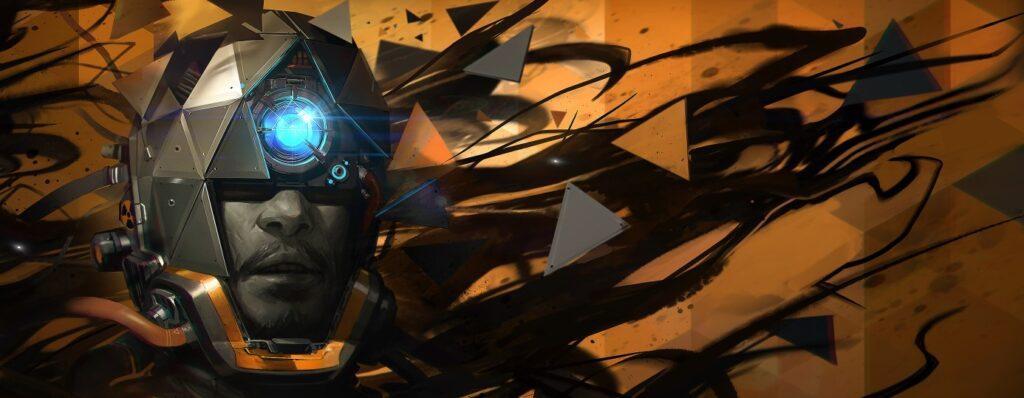 a man wearing a space helmet in key art for Prey